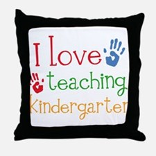 I Love Kindergarten Throw Pillow