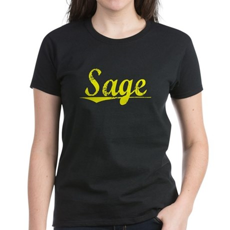 Sage, Yellow Women's Dark T-Shirt