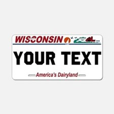 Wisconsin current license plate replica