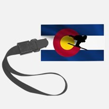 Colorado Skiing Flag Luggage Tag