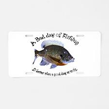 Fish or work Aluminum License Plate