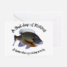 Fish or work Greeting Card