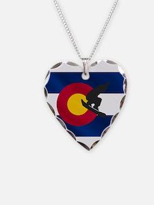 Colorado Snowboard Flag Necklace