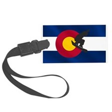 Colorado Snowboard Flag Luggage Tag