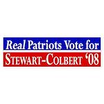 Real Patriots Vote... bumper sticker