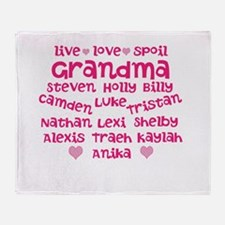 Custom grand kids Throw Blanket