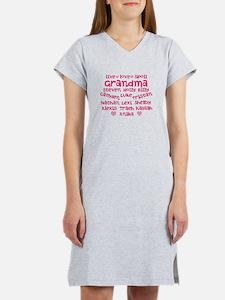 Custom grand kids Women's Nightshirt
