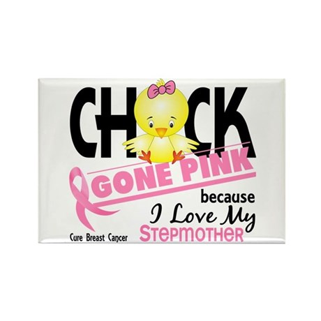 Chick Gone Pink For Breast Cancer Rectangle Magnet