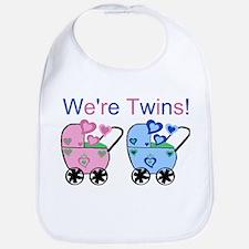 We're Twins! (Girl & Boy) Bib