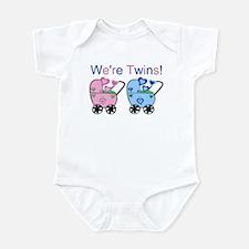 We're Twins! (Girl & Boy) Infant Creeper