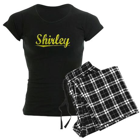 Shirley, Yellow Women's Dark Pajamas