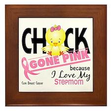 Chick Gone Pink For Breast Cancer Framed Tile
