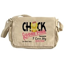 Chick Gone Pink For Breast Cancer Messenger Bag