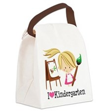 I Heart Kindergarten Canvas Lunch Bag