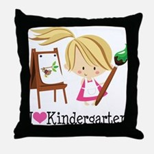 I Heart Kindergarten Throw Pillow