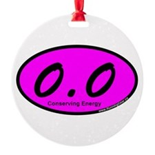 Pink Zero Point Zero Ornament
