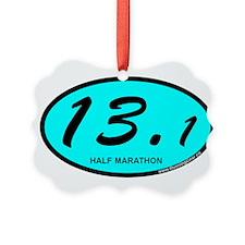 Half Marathon 13.1 aqua Ornament