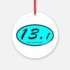 Half Marathon 13.1 aqua Ornament (Round)
