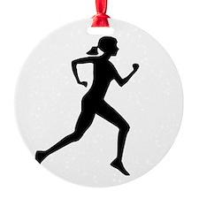 runner girl Ornament
