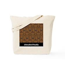 Brown Poodles Tote Bag