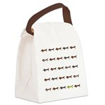 Dachshunds Tiles Canvas Lunch Bag