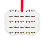 Dachshunds Tiles Picture Ornament