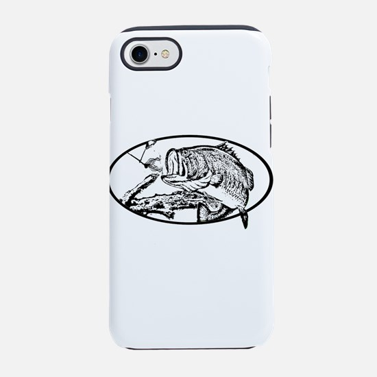 Largemouth Bass after Spinnerb iPhone 7 Tough Case