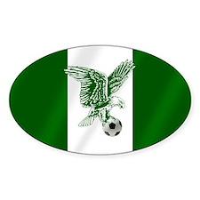 Nigerian Football Flag Decal