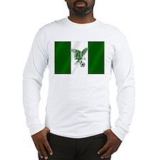 Nigerian Football Flag Long Sleeve T-Shirt
