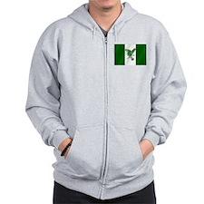 Nigerian Football Flag Zip Hoodie