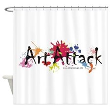 Art Attack Artist Shower Curtain