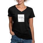 sex shirt Women's V-Neck Dark T-Shirt