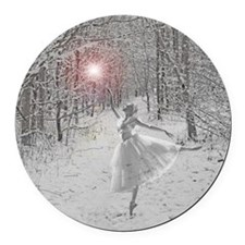 The Snow Queen Round Car Magnet