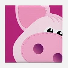 Happy Piggy Tile Coaster