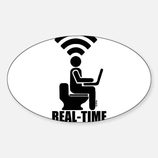Real-time social networker Sticker (Oval)