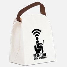 Real-time social networker Canvas Lunch Bag