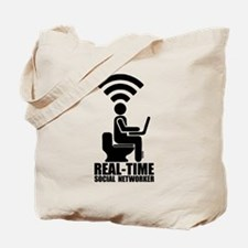 Real-time social networker Tote Bag