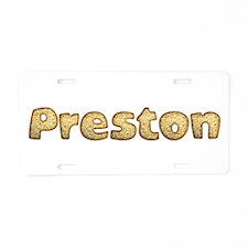 Preston Toasted Aluminum License Plate