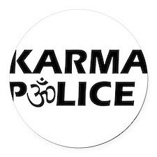 Karma Police Om Sign Round Car Magnet