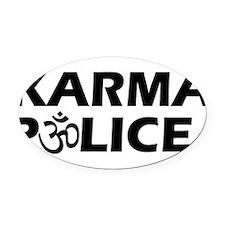 Karma Police Om Sign Oval Car Magnet