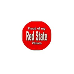 Red State Values Mini Button (10 pack)