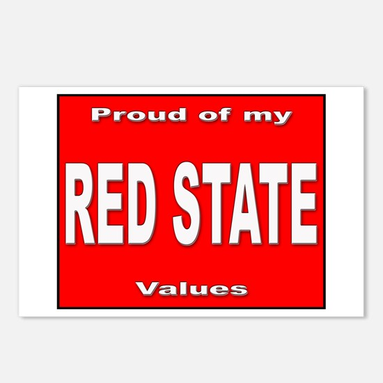 Red State Values Postcards (Package of 8)
