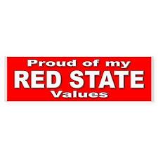Red State Values Bumper Bumper Sticker