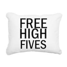 Free High Fives Rectangular Canvas Pillow