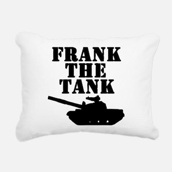 Frank The Tank Rectangular Canvas Pillow