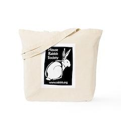 Rabbit Wood Block Tote Bag