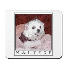 Maltese Pop Art Cosette Mousepad