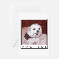Maltese Pop Art Cosette Greeting Cards (Package of