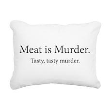 Cute Meat is murder Rectangular Canvas Pillow