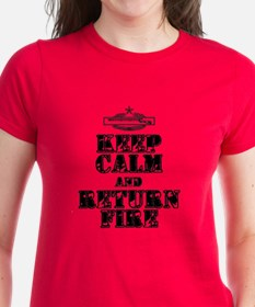Keep calm and return fire Tee